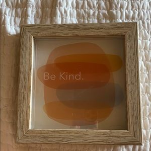 """be kind"" wood frame"